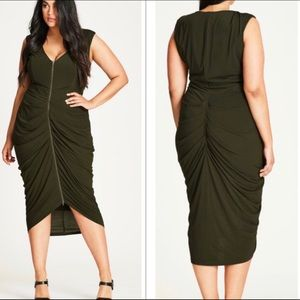 NWT | City Chic Drape Dress